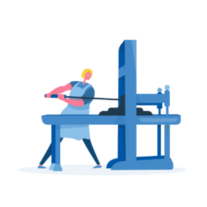 Commercial Printers Illustration