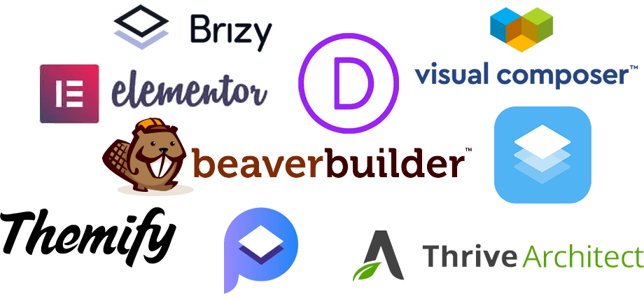 WordPress Page Builder Logos