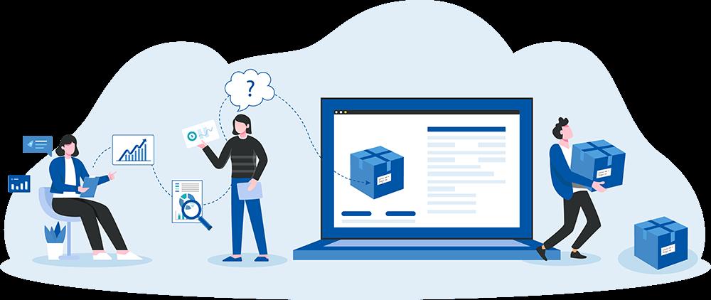 Custom Client Portal In Use Illustration